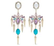 farbene Ohrringe mit Kristallen und Steinen