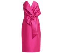 Trägerloses Kleid aus Faille mit Schleife