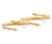 Skinny Horn Gold-plated Set Of Two Rings