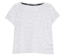 Alice Cropped Burnout Jersey T-shirt Weiß