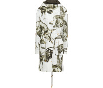 Printed Cotton-blend Faille Hooded Parka