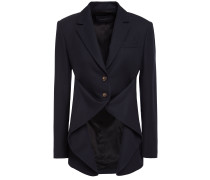 Draped Wool-twill Blazer