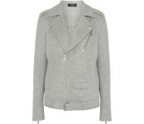 Wool and cashmere-blend biker jacket