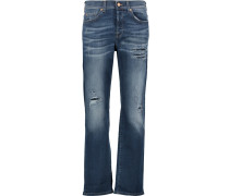 Jared Distressed Boyfriend Jeans Dunkler Denim