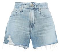 ausgewaschene Jeansshorts in Distressed-optik