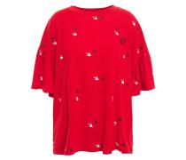 Gathe Printed Cotton-jersey T-shirt