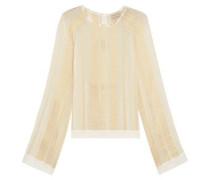 Melissa metallic silk-blend jacquard blouse