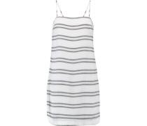 Jupiter Paneled Crepe Mini Dress Weiß
