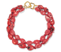 Coral Bead Necklace Ziegelrot