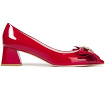 Bow Jewels Patent-leather Pumps