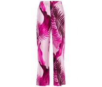 Woman Tharos Printed Satin Straight-leg Pants Baby Pink