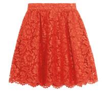 Guipure Lace Mini Skirt Tomatenrot