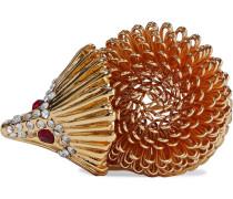 22-karat -plated Crystal Brooch