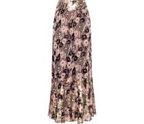 Floral-print Georgette Wide-leg Pants Mehrfarbig