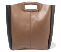 Two-tone Leather Tote Braun