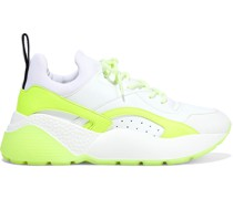 Eclypse Neon Neoprene, Faux Leather And Suede Exaggerated-sole Sneakers