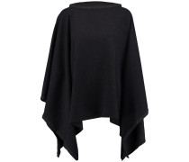 Draped Merino Wool Poncho Schiefer