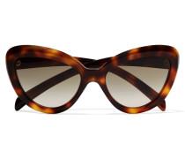 Cat-eye Acetate Sunglasses Horn