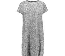 Ribbed Stretch-knit Jacquard Mini Dress Grau