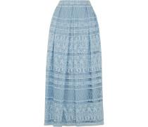 Heart Guipure Lace Maxi Skirt Himmelblau