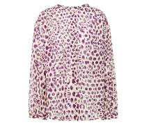 Woman Fil Coupé Leopard-print Cotton Blouse Cream