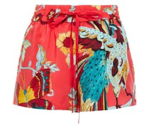 Bedruckte Shorts aus Crêpe De Chine aus Seide