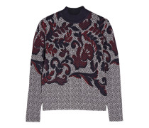 Jacquard-knit Sweater Mehrfarbig
