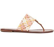 Sandalen aus Geflochtenem Leder mit Verzierung