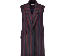 Striped Wool-blend Vest Burgunder