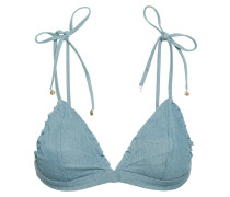 Denim Triangle Bikini Top