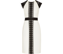 Inge Giupure Lace-paneled Cady Dress Elfenbein
