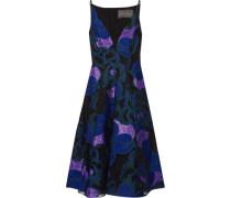 Organza-trimmed fil coupé dress
