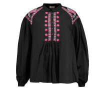 Fable embroidered cotton blouse