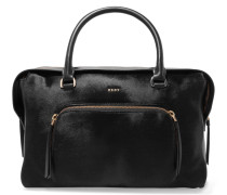 Calf Hair And Leather Tote Schwarz