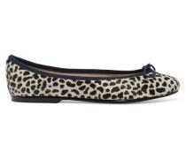 Leopard-print Calf Hair Ballet Flats Leoparden-Print