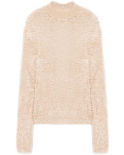 Brushed Knitted Turtleneck Sweater Blush