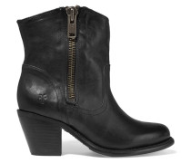 Leslie Leather Boots Schwarz