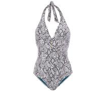 Mombasa Snake-print Halterneck Swimsuit