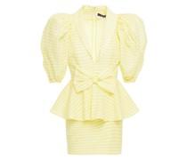 Johanna Minikleid aus Seersucker aus Einer Baumwollmischung mit Gingham-karo und Schößchen