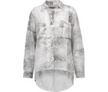Printed Cotton Shirt Hellgrau