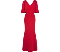 Ruffled Textured-crepe Gown Rot