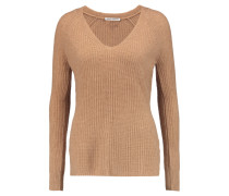 Ribbed Cashmere Sweater Camel
