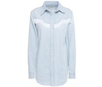 Trinity Fringe-trimmed Denim Shirt