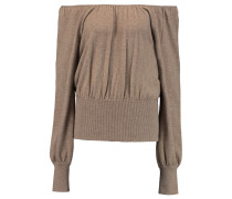 Off-the-shoulder Cashmere Sweater Champignon