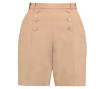 Buttoned Cotton-twill Shorts Sand