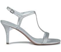 Sandalen aus Webstoff mit Glitter-finish