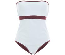Bb Reversible Cutout Two-tone Bandeau Swimsuit