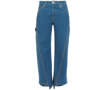 Cropped Mid-rise Bootcut Jeans