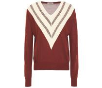 Jone Open Knit-trimmed Wool-blend Sweater