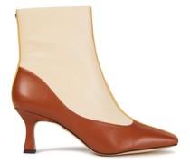 Ankle Boots aus Leder in Colour-block-optik